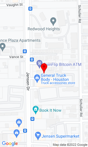 Google Map of General Truck Body Mfg. Co. of Texas 7110 Jensen Drive, Houston, TX, 77093
